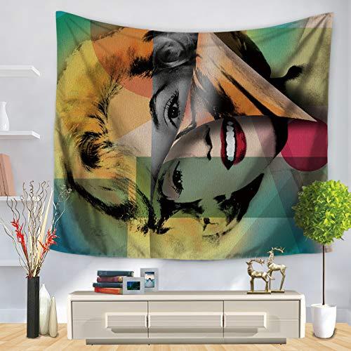 Hanging Audrey Hepburn Home Decoration Table Cloth Mandala Boho Sandy Beach Picknick Rug Blanket Sleeping Pad 90 * 75 GT1192-2 ()
