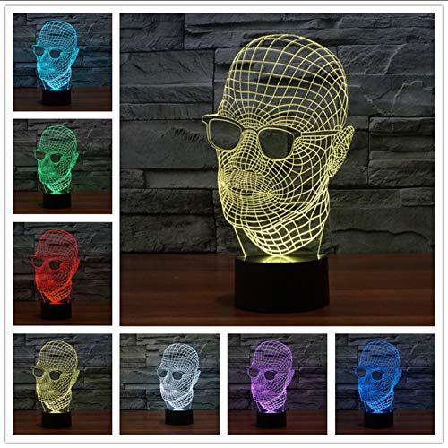 Mmzki Led 3D Lampe Licht Usb Schädel Bunte Nachtlicht Für Hochzeit Deco Innovative Weihnachtsgeschenk Geschenk Tischlampe
