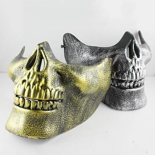 ysoutstripdu Skull Half Face CS Military Skelett Warrior Masquerade Maske