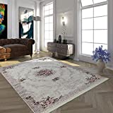 Paco Home Moderner Teppich Mit Bedrucktem Trend Muster Orient Design In Beige Creme Rosa, Grösse:80x150 cm