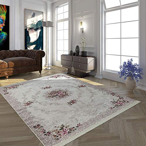 Paco Home Moderner Teppich Mit Bedrucktem Trend Muster Orient Design In Beige Creme Rosa, Grösse:160x230 cm