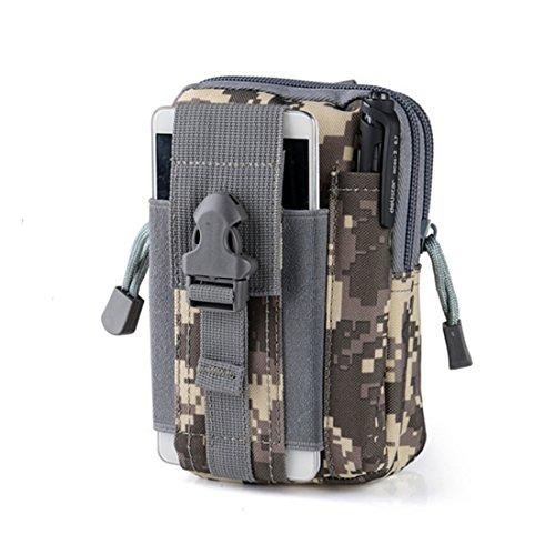 joygood 15,2cm Outdoor Wasserdicht Kompaktes Mehrzweck-Tactical MOLLE EDC Utility Gadget Tasche Tools Taille Tasche Pack - ACU camouflage
