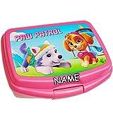 Unbekannt Lunchbox / Brotdose -  Paw Patrol - Hunde  - inkl. Name - BPA frei - Brotbüchse Küche Essen - Vesperdose - Brotzeitdose - für Mädchen - Vesperbrotdose - Sch..