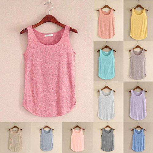 Women's Tops Vest, Wawer Summer Tank-sleeveless Round Neck Loose Singlets Vest Great For Sports/Dance/Club/Party/Daily/Beach