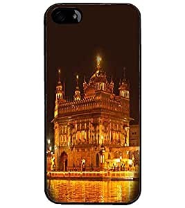 PrintDhaba Golden Temple D-1064 Back Case Cover for APPLE IPHONE 4S (Multi-Coloured)