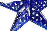 FiveStar Premium Papiersterne, Party Deko, 2 Stück Durchmesser: 45cm Weihnachtsdeko Deko-Stern Fensterstern Paper Star in Verschiedenen Farben (Blau) für FiveStar Premium Papiersterne, Party Deko, 2 Stück Durchmesser: 45cm Weihnachtsdeko Deko-Stern Fensterstern Paper Star in Verschiedenen Farben (Blau)