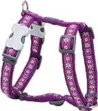 Red Dingo Desinger Dog Harness, Daisy Chain Purple (20mm x Neck: 36-59cm / Body 45-66cm) M