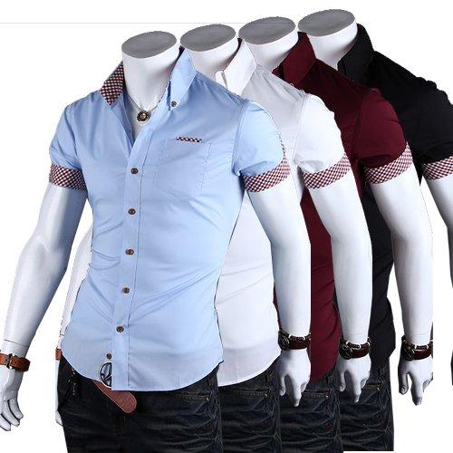 Fanessy Hemd Slim Fit 3 Farben Größen M-2XXL Herren Modell Business Blau