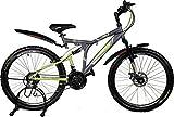 #4: Kross K 40 21 Speed Disc 26 Grey&Green 402232 Mountain Cycle (Grey)