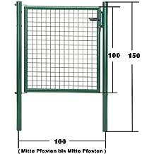 GAH Wellengitter-Tor grün Höhe 100cm x Breite 100cm