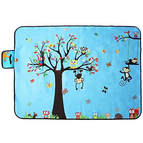 Colorfulworld Picknickdecke Picknickmatte Wasserdichte Stranddecke Baby Strand Matte Außendecke Campingdecke Matte Sandlose Strandmatte (150X200, Style2)