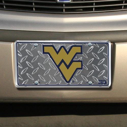 (6x12) West Virginia University Diamond Cut NCAA License Plate by Poster Revolution