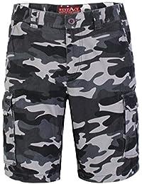 d6bafa2fd127 westAce Herren Armee Cargo Shorts 100% Baumwolle Camouflage Combat Bermuda  Kurz Hose