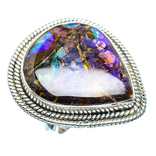 Ammolite, Ammolit 925 Sterling Silber Ring 8.5