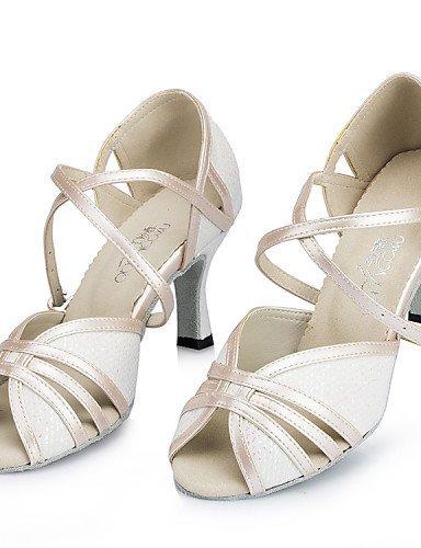 ShangYi Chaussures de danse(Noir / Rose / Blanc) -Personnalisables-Talon Aiguille-Similicuir-Latine Black