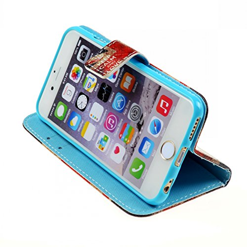 Etche iPhone 6 Plus/6S Plus (5.5 pouces) Wallet Case, étui en cuir pour iPhone 6 Plus/6S Plus,coloré flip imprimé portant couvrir avec Stand pour iPhone 6 Plus/6S Plus,Book Style Credit Card Slots coq pattern #18