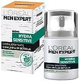 L'Oréal Paris Men Expert Men Expert Hydra Sensitive Crema Idratante Pelli Sensibili, 50 ml