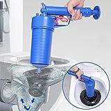 fasloyu Toilet Plunger, Air Drain Blaster, Pressure Pump Cleaner, High Pressure Plunger Opener Cleaner Pump for Bath Toilets, Bathroom, Shower, Kitchen Clogged Pipe Bathtub