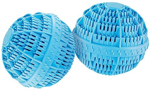 Rosenstein & Söhne Waschkugel: Keramik-Wäscheball mit 80 Mineralstoffen 2er-Set (Waschbälle)