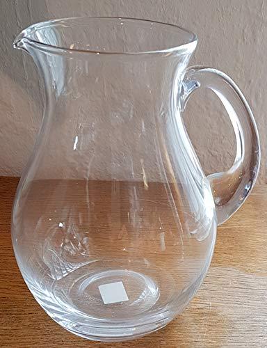 Oberstdorfer Glashütte Krug antik Stil dekorativer großer klarer Glaskrug mit Henkel für Wasser, Saft oder Blumenkrug Inhalt 2,0 Liter klar Höhe ca. 22 cm Antike Krüge