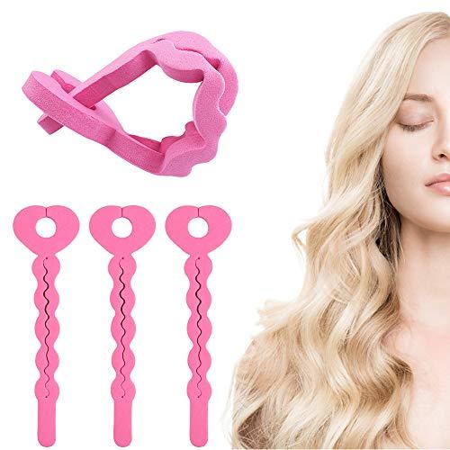 Rizadores para el Cabello de Espuma 18 Piezas Flexible Rodillos de Esponja Pelo para cabello DIY, Mujeres...