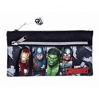 Safta Estuche Doble Cremallera Avengers «Gallery Edition» Oficial Escolar 230x110mm
