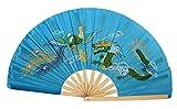 AAF Nommel ® Tai Chi-, Kung Fu-, Tanz-, Deko- Fächer, schwarz Drache Bambus Nr. 08