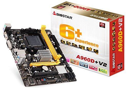 Biostar A960D + V2AMD 890GX Socket AM3+ Micro ATX Mainboard–Mainboards (DIMM, SDRAM, Dual, AMD, AMD FX, Phenom, Phenom II X2, Phenom II X3, Phenom II X4, Phenom II X6, Sempron, Sockel AM3+)