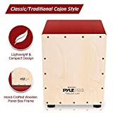 Pyle String Cajon | Wooden Percussion Box, with Internal Guitar Strings (PCJD15)