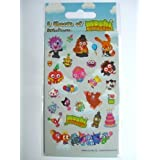 6 Sheets of Moshi Monsters Stickers for party bags rewards treats