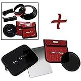 """Fotodiox FreeArc XL ND16 Kit de Support de Filtre de Base/Bouchon/Support WonderPana 80 8""""/21 cm/Filtre 0,9 Bord Dur Grad ND/186 mm ND16 pour Objectif Canon EF 11-24 mm f/4L USM Noir"""