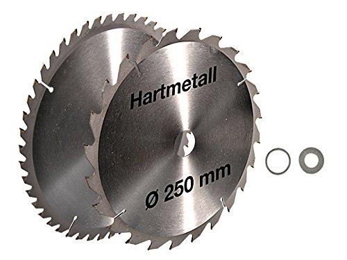 2 tlg Set Kreissägeblatt Hartmetall 250 x 30 mm 24 Z + 48Z