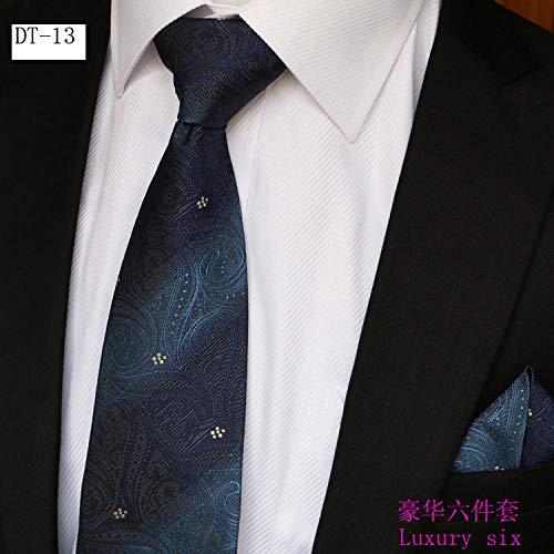 xiaoxiaoshen Herren Anzug Krawatte Geschenkbox Sechsteiliger Anzug Nano Waterproof Herren Business Krawatte Business-krawatte