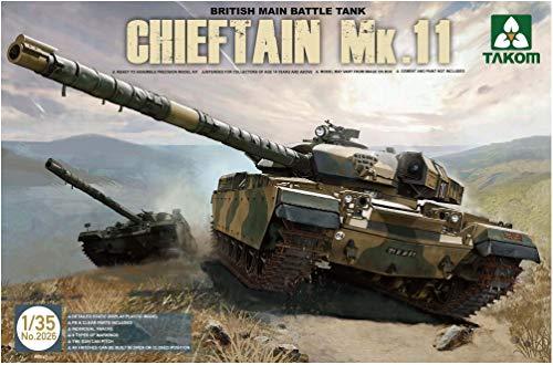 TAKOM TAK-2026 - Modellbausatz British Main Battle Tank Chieftain Mk.11 (Model Paint Kit Militär)