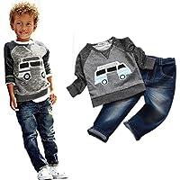 Culater® Ragazzi del bambino Outfit Abbigliamento Car stampa a maniche