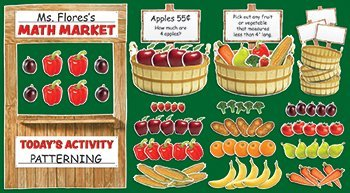 Farmers Market Math Bulletin Board Set by TEACHERS FRIEND