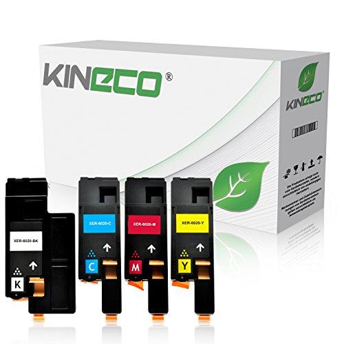 Preisvergleich Produktbild 4 Toner kompatibel zu Xerox Phaser 6020, 6022, 6027, WorkCentre WC 6025, 6027 - Schwarz 2.000 Seiten, Color je 1.000 Seiten