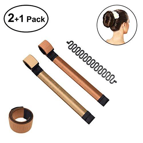 2 Pack Donut Hair Bun Maker, POPHEKO Fashion Hair Styling Tool Girls Womens French Twist Haar Brötchen Styling Braid Halter Werkzeug- Magic DIY Tool
