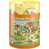 Schmidt Spiele 56917 Bauernhof Puzzles in Spardose, 60 Teile preisvergleich bei kinderzimmerdekopreise.eu