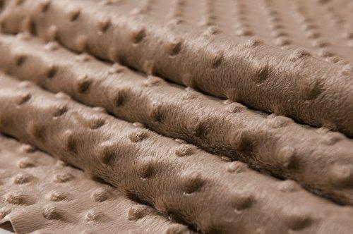MINKY DOT - flauschiger Plüschstoff mit Noppen, Fleece, Meterware - Braun - Minky Grau Stoff