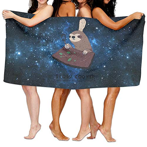 r Bath Towel Slow Cooker Sloth Personalize Soft Great for Swim Spa Travel Yoga Sports Camping 31