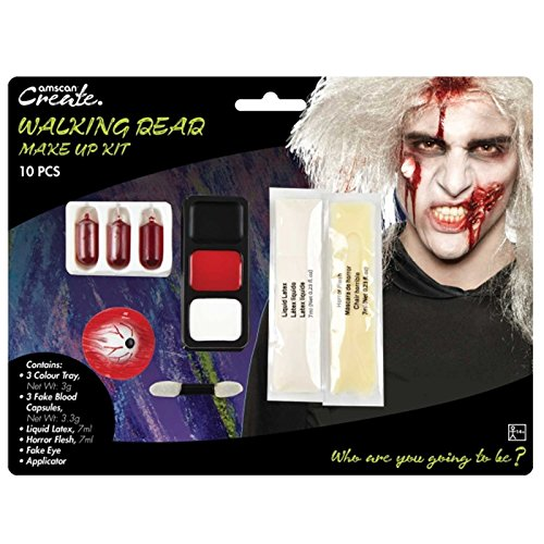 Amscan International 9901428 Walking Dead Zombie Make Up (Walking Dead Kostüm Einfach)