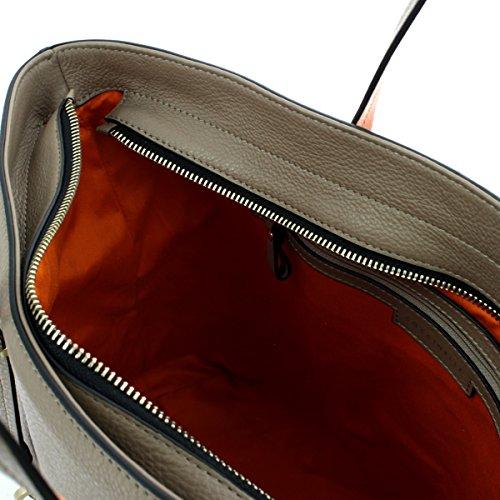 Coccinelle Iggy Shopper tasche Leder 35 cm taupe pompelmo