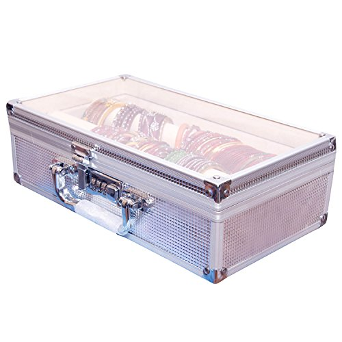 Pride Metal Silver Hard Luggage Cosmetic Cases
