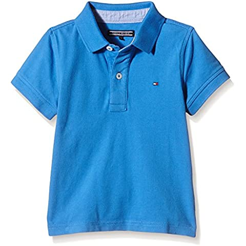 TOMMY HILFIGER KIDS - Tommy Fashion Polo S/S, Camisa De Pijama de niños, azul, 10