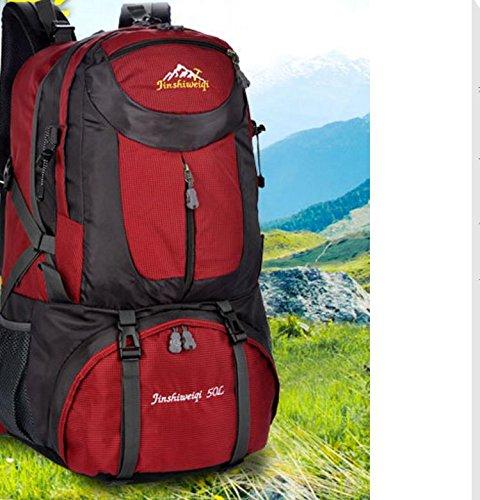 Taschen neue Aufhängung Halterung System 50L Rucksäcke Klettern deep red
