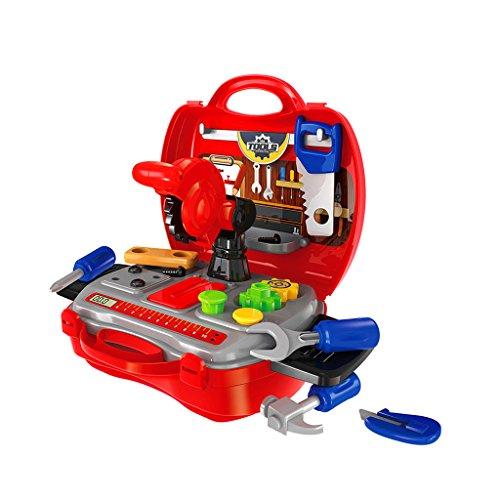 Sharplace Kinder Werkzeug Werkzeugkasten Werkzeugkoffer Reparatur Zubehör Rollenspiele Spielzeug...