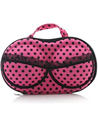 Density Collection Bra Shaped Storage Bag Box Travel Organizer Bra Bag/Lingerie/Panties/- Portable Travel Zipper...