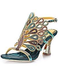 El mejor regalo para mujer y madre Mujer Zapatos Poliuretano Primavera Verano Botas de Moda Sandalias Puntera...