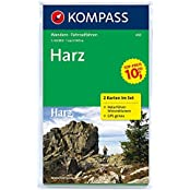 Harz: Wanderkarten-Set mit Radrouten. GPS-genau. 1:50000 (KOMPASS-Wanderkarten, Band 450)